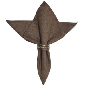 Sweet Pea Linens - Brown & Black Yarn Dyed Cloth Napkin (SKU#: R-1010-A11) - Product Image