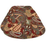 Sweet Pea Linens - Garnet Paisley Matelasse Wedge-Shaped Placemats - Set of Two (SKU#: RS2-1006-A12) - Product Image