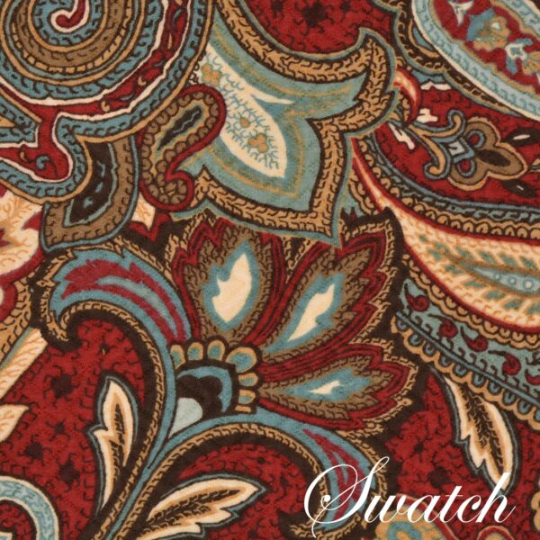 Sweet Pea Linens - Garnet Paisley Matelasse Wedge-Shaped Placemats - Set of Four plus Center Round-Charger (SKU#: RS5-1006-A12) - Swatch