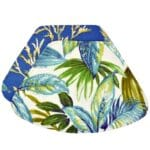 Sweet Pea Linens - Blue Seashell & Tropical Leaf Outdoor Fabric Wedge-Shaped Placemats - Set of Two (SKU#: RS2-1006-A13) - Product Image