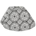 Sweet Pea Linens - Grey Medallion Outdoor Fabric Wedge-Shaped Placemats - Set of Two (SKU#: RS2-1006-A14) - Product Image