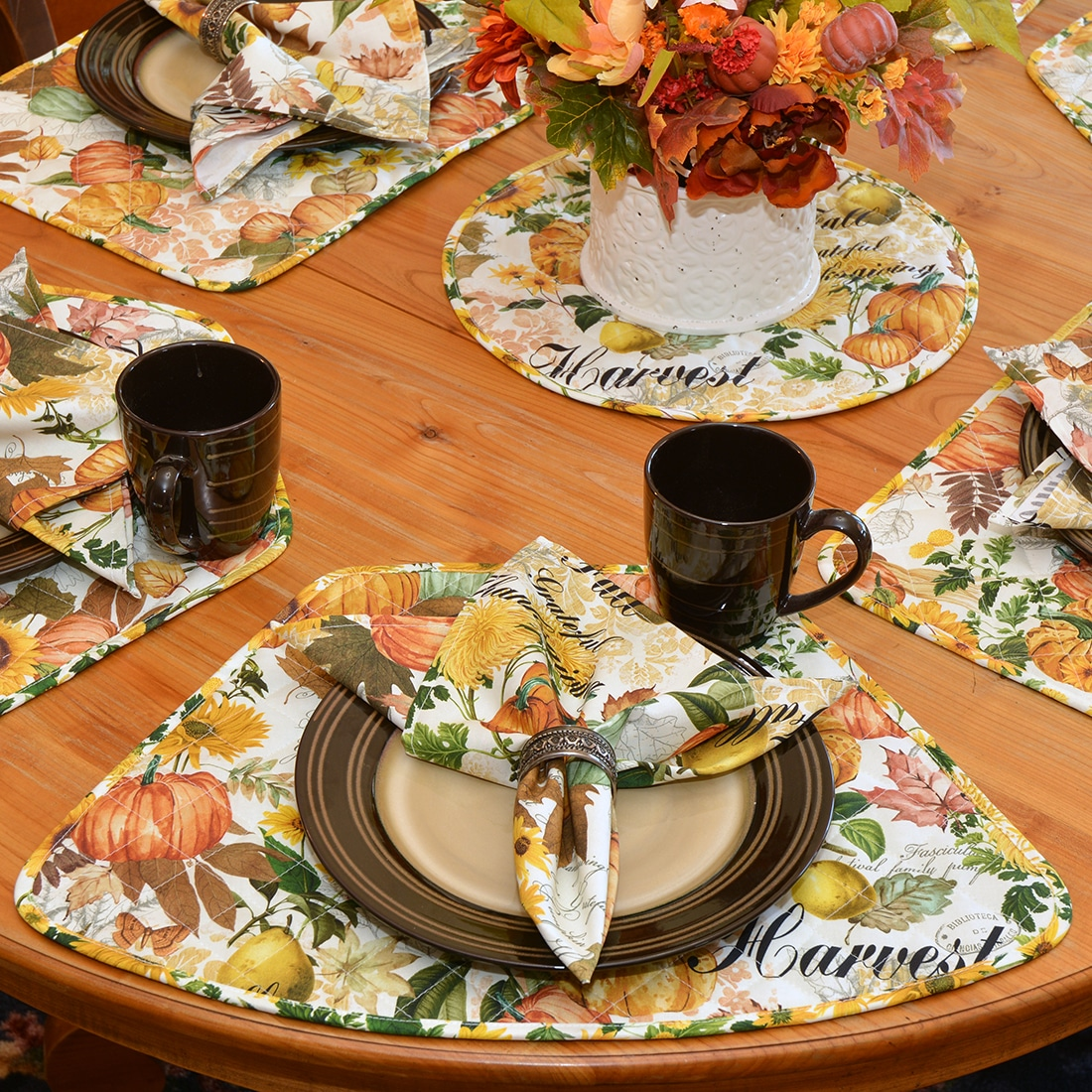 Quilted Bright Fall Harvest, Sunflower and Pumpkin Collection