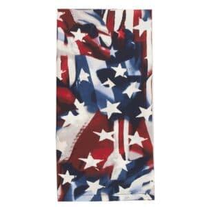 Sweet Pea Linens - Red, White & Blue, Stars & Stripes Flag Cloth Napkin (SKU#: R-1010-A7) - Product Image