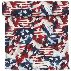 Sweet Pea Linens - Red, White & Blue, Stars & Stripes Flag 72 inch Table Runner (SKU#: R-1024-A7) - Product Image