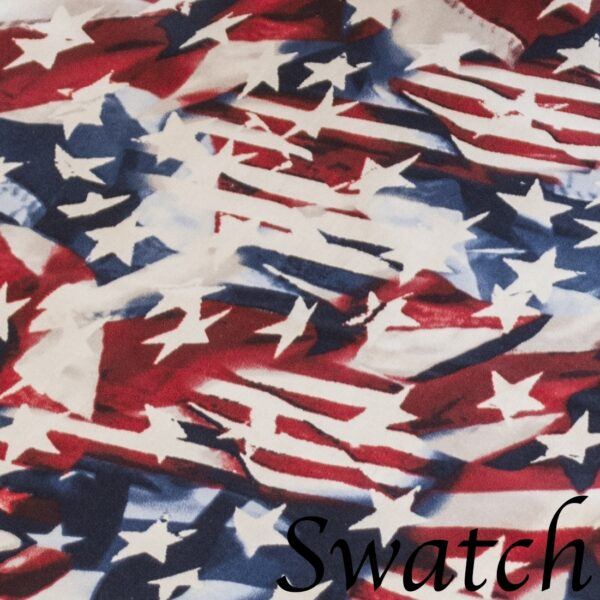 Sweet Pea Linens - Red, White & Blue, Stars & Stripes Flag 72 inch Table Runner (SKU#: R-1024-A7) - Swatch