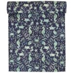 Sweet Pea Linens - Blue & Green Seahorse and Seashell Print 72 inch Table Runner (SKU#: R-1024-A9) - Product Image