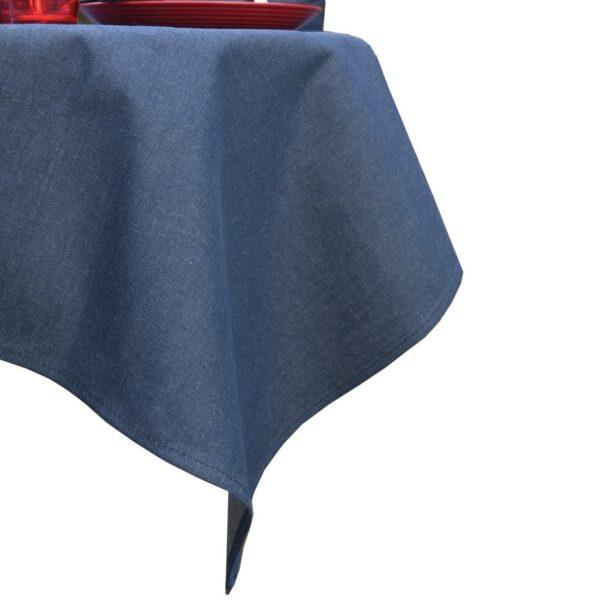 Sweet Pea Linens - Darker Blue Denim 54 inch Square Table Cloth (SKU#: R-1008-B26) - Product Image