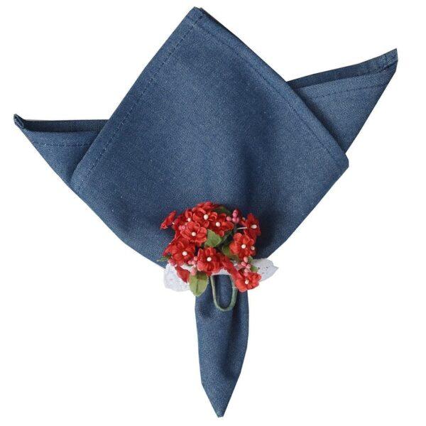 Sweet Pea Linens - Darker Blue Denim Cloth Napkin (SKU#: R-1010-B26) - Product Image