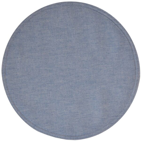 Sweet Pea Linens - Blue Denim Charger-Center Round Placemat (SKU#: R-1015-B2) - Product Image