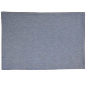 Sweet Pea Linens - Blue Denim Rectangle Placemats - Set of Two (SKU#: RS2-1002-B2) - Product Image