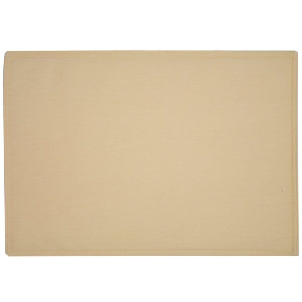 Sweet Pea Linens - Wheat Twill Rectangle Placemats - Set of Two (SKU#: RS2-1002-B30) - Product Image