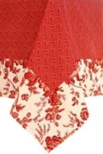 Sweet Pea Linens - Red Romance Print 54 inch Square Table Cloth (SKU#: R-1008-C2) - Product Image