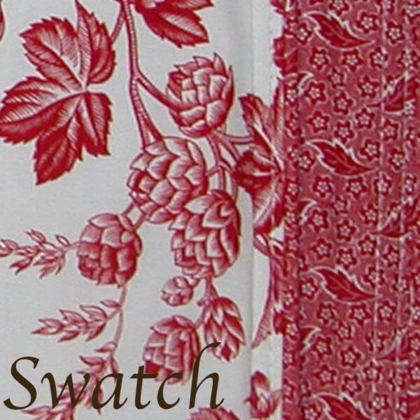 Sweet Pea Linens - Red Romance Print 54 inch Square Table Cloth (SKU#: R-1008-C2) - Swatch