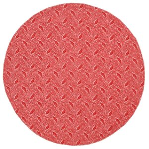 Sweet Pea Linens - Red Romance Print Charger-Center Round Placemat (SKU#: R-1015-C2) - Product Image