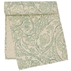 Sweet Pea Linens - Sea Mist Green Paisley 60 inch Table Runner (SKU#: R-1021-C5) - Product Image