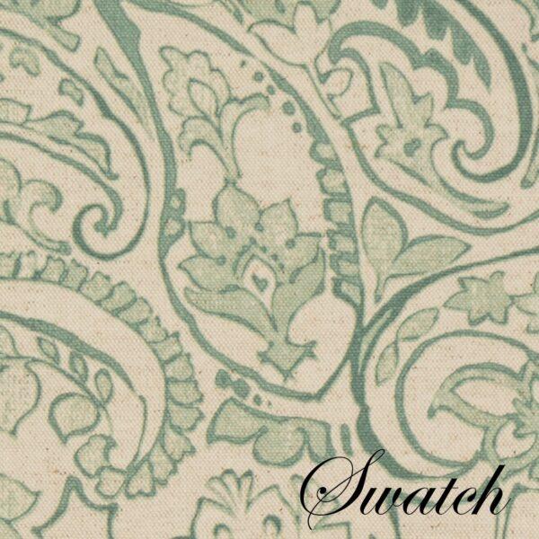 Sweet Pea Linens - Sea Mist Green Paisley 60 inch Table Runner (SKU#: R-1021-C5) - Swatch