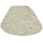 Sweet Pea Linens - Sea Mist Green Paisley Wedge-Shaped Placemats - Set of Two (SKU#: RS2-1006-C5) - Product Image