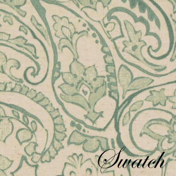 Sweet Pea Linens - Sea Mist Green Paisley Rectangle Placemats - Set of Four plus Center Round-Charger (SKU#: RS5-1002-C5) - Swatch