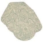 Sweet Pea Linens - Sea Mist Green Paisley Wedge-Shaped Placemats - Set of Four plus Center Round-Charger (SKU#: RS5-1006-C5) - Product Image