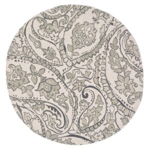 Sweet Pea Linens - Pewter Grey Paisley Charger-Center Round Placemat (SKU#: R-1015-C6) - Product Image