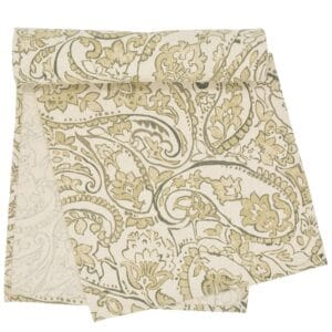 Sweet Pea Linens - Flaxen Yellow Paisley 60 inch Table Runner (SKU#: R-1021-C7) - Product Image