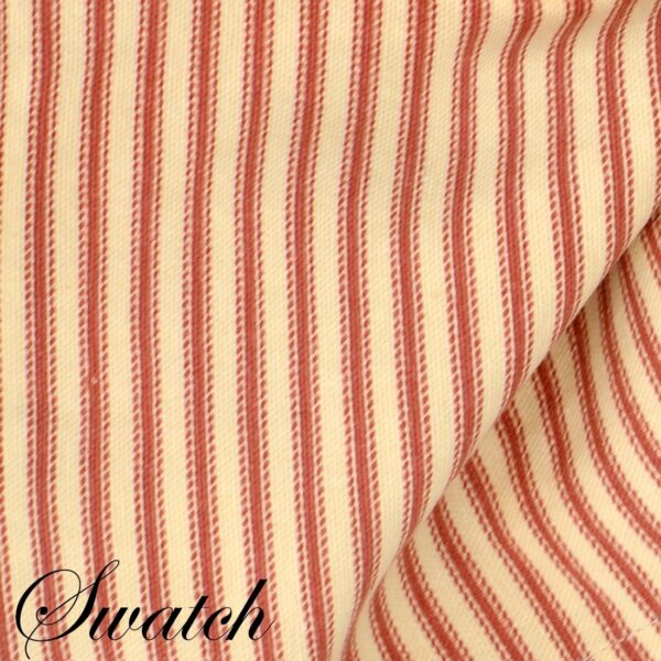 Sweet Pea Linens - Red & Natural Mattress Ticking Stripe Cloth Napkin (SKU#: R-1010-C8) - Swatch