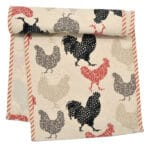 Sweet Pea Linens - Rifton Red Rooster 60 inch Table Runner (SKU#: R-1021-C8) - Product Image
