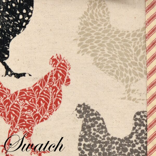 Sweet Pea Linens - Rifton Red Rooster 60 inch Table Runner (SKU#: R-1021-C8) - Swatch