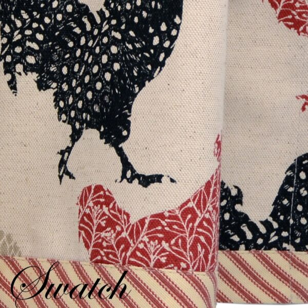 Sweet Pea Linens - Rifton Red Rooster Valance (SKU#: R-1091-C8) - Swatch