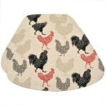 Sweet Pea Linens - Rifton Red Rooster Wedge-Shaped Placemats - Set of Two (SKU#: RS2-1006-C8) - Product Image