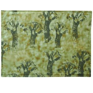 Sweet Pea Linens - Sage Green Broccoli Print Rectangle Placemats - Set of Two (SKU#: RS2-1002-E11) - Product Image