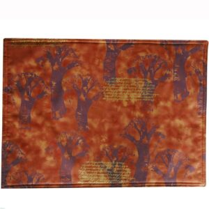 Sweet Pea Linens - Terracotta Brocolli Print Rectangle Placemats - Set of Two (SKU#: RS2-1002-E12) - Product Image