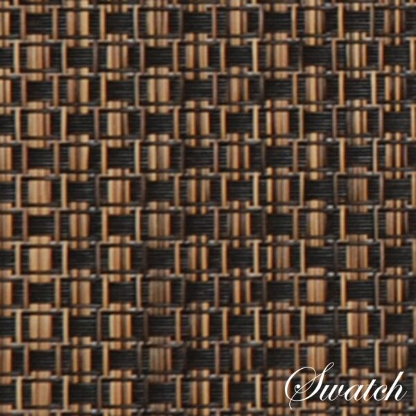 Sweet Pea Linens - Driftwood (Black & Tan) Wipe Clean Charger-Center Round Placemat (SKU#: R-1015-F14) - Swatch