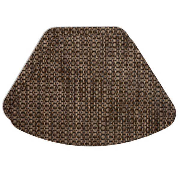 Sweet Pea Linens - Driftwood (Black & Tan) Wipe Clean Wedge-Shaped Placemats - Set of Two (SKU#: RS2-1006-F14) - Product Image