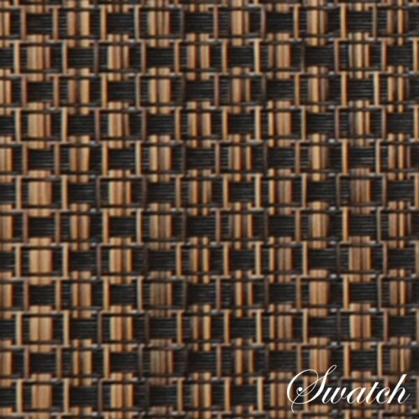 Sweet Pea Linens - Driftwood (Black & Tan) Wipe Clean Wedge-Shaped Placemats - Set of Two (SKU#: RS2-1006-F14) - Swatch