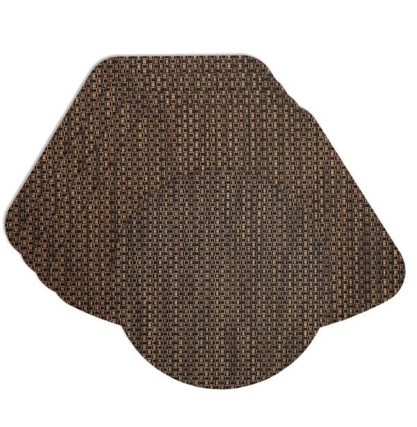 Sweet Pea Linens - Driftwood (Black & Tan) Wipe Clean Wedge-Shaped Placemats - Set of Four plus Center Round-Charger (SKU#: RS5-1006-F14) - Product Image