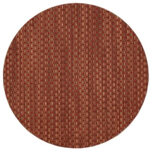 Sweet Pea Linens - Redwood (Brick & Tan) Wipe Clean Charger-Center Round Placemat (SKU#: R-1015-F15) - Product Image