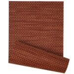 Sweet Pea Linens - Redwood (Brick & Tan) Wipe Clean 72 inch Table Runner (SKU#: R-1024-F15) - Product Image