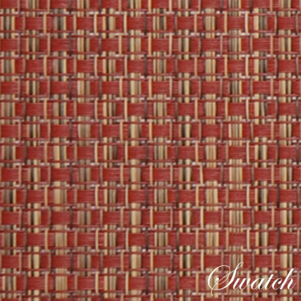 Sweet Pea Linens - Redwood (Brick & Tan) Wipe Clean Rectangle Placemats - Set of Four plus Center Round-Charger (SKU#: RS5-1002-F15) - Swatch
