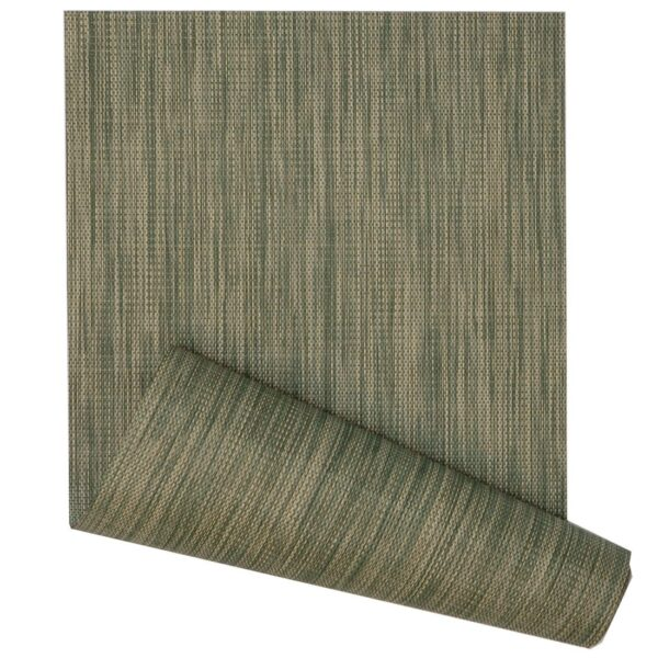 Sweet Pea Linens - Green/Tan Wipe Clean 72 inch Table Runner (SKU#: R-1024-F16) - Product Image