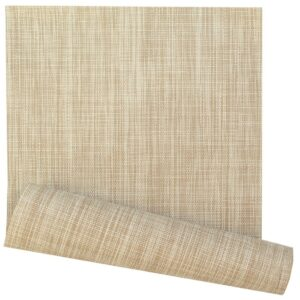 Sweet Pea Linens - Cream/Tan Wipe Clean 72 inch Table Runner (SKU#: R-1024-F17) - Product Image