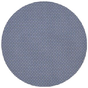 Sweet Pea Linens - Blue/White Wipe Clean Charger-Center Round Placemat (SKU#: R-1015-F18) - Product Image