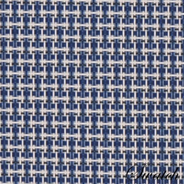 Sweet Pea Linens - Blue/White Wipe Clean Charger-Center Round Placemat (SKU#: R-1015-F18) - Swatch