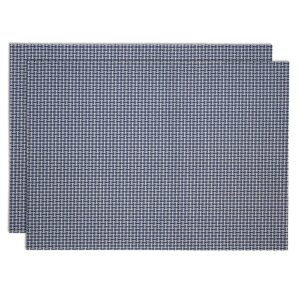 Sweet Pea Linens - Blue/White Wipe Clean Rectangle Placemats - Set of Two (SKU#: RS2-1002-F18) - Product Image