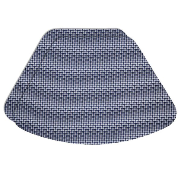 Sweet Pea Linens - Blue/White Wipe Clean Wedge-Shaped Placemats - Set of Two (SKU#: RS2-1006-F18) - Product Image