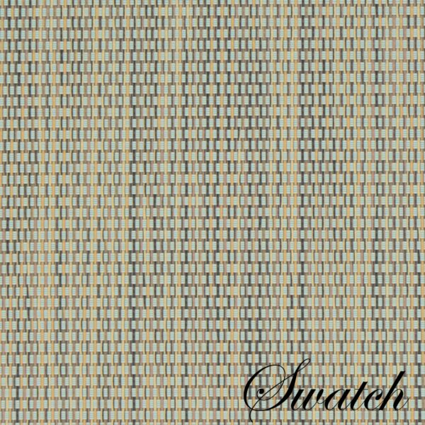 Sweet Pea Linens - Seafoam Green/Tan Wipe Clean Charger-Center Round Placemat (SKU#: R-1015-F19) - Swatch