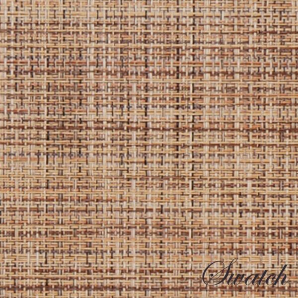 Sweet Pea Linens - Brown/Tan Wipe Clean Charger-Center Round Placemat (SKU#: R-1015-F20) - Swatch