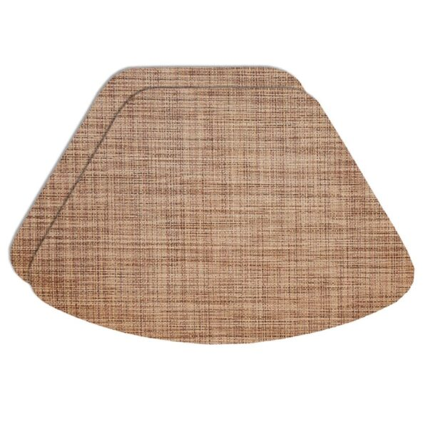 Sweet Pea Linens - Brown/Tan Wipe Clean Wedge-Shaped Placemats - Set of Two (SKU#: RS2-1006-F20) - Product Image