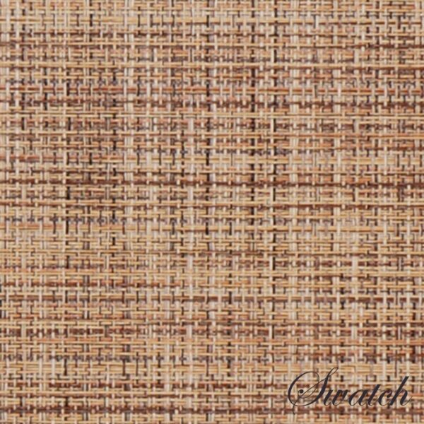 Sweet Pea Linens - Brown/Tan Wipe Clean Wedge-Shaped Placemats - Set of Four plus Center Round-Charger (SKU#: RS5-1006-F20) - Swatch