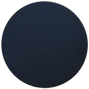 Sweet Pea Linens - Dark Blue Wipe Clean Charger-Center Round Placemat (SKU#: R-1015-F21) - Product Image